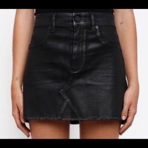 Blank NYC Coated Denim Mini Skirt